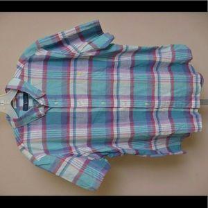 Ralph Lauren Indian Madras Short Sleeve Button